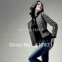 fashion women's plaid wadded jacket cotton-padded jacket clip cotton-padded coat outerwear
