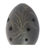 free shipping TaoDi Handmade black pottery xun national musical instrument Small Ceramic flute