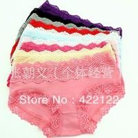 women modal lace many color size sexy underwear/ladies underwpanties/lingerie/bikini ear pants/ th0ong/g-string ZC5014-12pcs