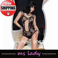 10pcs/lot Sexy Body Suit Sexy Teddies Women Lingerie Underwear Black Popular 2013 Free Shipping HK Airmail