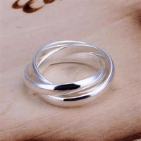 free shipping! Wholesale 925 silver 3 layer ring, 925 silver fashion jewelry, 3 layer silver ring R167