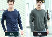 Quality 2013 summer high quality male short-sleeve T-shirt mercerized cotton V-neck men's shirt 00032