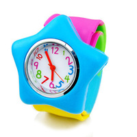 Multicolour table five-pointed star little flower watches millenum watchband jelly child table