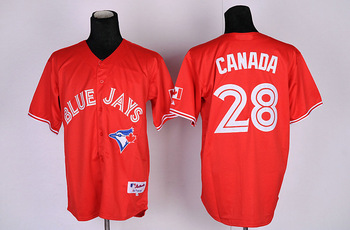 Discount baseball  jerseys ,Toronto Blue Jays 9# 13# 19# 24# 28#Canada red TBJ anniversary edition  cheap baseball  jerseys
