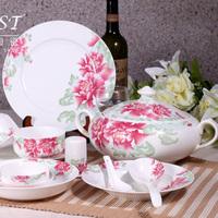 Ceramics tableware avowedly 56 quality bone china set wedding gift h207