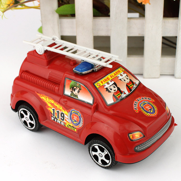 Toy backguy fire truck sale of the goods commodity novelty toy(China (Mainland))