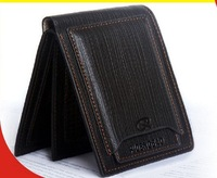 Free shipping 2013 Casual Genuine Leather Men Wallet and Purse  Cowhide Card Wallet Male Wallet Card Holder