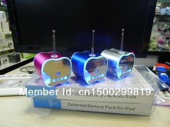 3pcs T2012  Mini Portable Music Speaker Sound box Boombox Speakers with U-disk U disk micro SD/TF Card reader USB + FM Radio