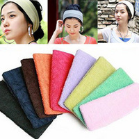 candy color sports yoga head protection wide ribbon tenfolds  2505