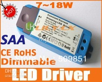 led dimmable driver 7W to 18W AC110V or AC240V Dimming power SAA CE RoHS Downlight LED transformer
