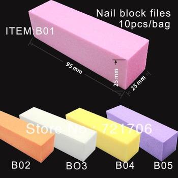 10 pcs Buffer Acrylic Nail Art Sanding Block Files 100% Brand New