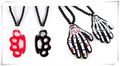 10pcs/lot Exquisite Acrylic Crown and Skeleton Hand Necklaces Nice Gifts Whole Hot Sale Free Shipping(NBNACH)