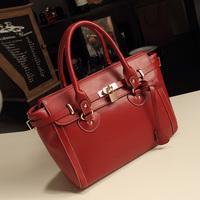 Fashion 2014 lockbutton platinum bags fashion strap decoration vintage handbag one shoulder cross-body women's handbag bag