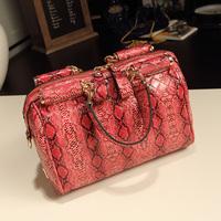 Women's handbag vintage bags 2013 women's handbag japanned leather serpentine pattern embossed women's handbag messenger bag