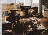 Hot Beautiful 100% Cotton 4pc Doona Duvet QUILT Cover Set bedding set Full / Queen/ King size 4pcs animal Tiger Fierce Look