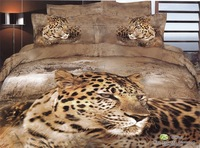 Hot Beautiful 100% Cotton 4pc Doona Duvet QUILT Cover Set bedding set Full / Queen/ King size 4pcs animal lovely leopard