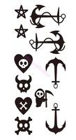 Free shipping ,10pcs/ lot Temporary tattoo stickers Temporary body art Supermodel stencil designs Waterproof tattoo #NS051