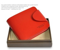 Promotion &Free shipping,Ladies Genuine Leather Wallet,women leather purse, top quality, fashion Red wallet,Hasp, H027-1