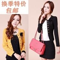 2014 Women's plus size blazer spring and autumn short jacket slim short design top outergarment