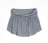 Mushroom autumn new arrival fashion women's navy stripe skorts short trousers plus size culottes