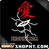 Free shipping Shophy . com - car stickers - 3m reflective stickers naruto 00969 - - - i love