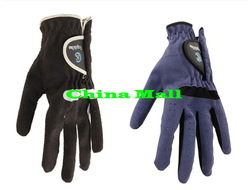 Free Shipping Children golf gloves PU Genuine Leather High Qualtiy Blue Black White Color Size 22-27(China (Mainland))