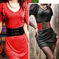 Elastic waist belt strap female lengthen all-match ultra wide elastic waist hot-selling metal automatic buckle