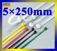 5mm*250mm velcro strap,marker strap,white color high quality 250pcs/lot nylon cable tie