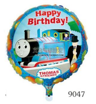 Free Shipping 10pcs/lot Eco-Friendly Cartoon Thomas Foil Balloon Happy Birthday Party Balloons Children Funny Toys Wholesale