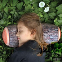 Free Shipping Novelty Green Log Pillow Wood Grain and Wood Throw Pillows Gift for kid Child