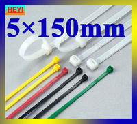 5mm*150mm velcro strap,marker strap,white color high quality 500pcs/lot nylon cable tie
