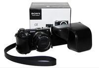 Black Leather Camera Case Bag Cover For Sony NEX6 NEX 6 NEX-6 + Free shipping