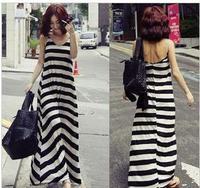 Free Shipping Maternity Clothes Summer Fashion Elegant Dresses Black White Stripe Full Dress Cheap Maternity Dresses Plus Size