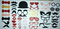 Hot Sale 50pcs Funny Mask Wedding Party Photography Photo Props MUSTACHE ON A STICK