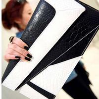 Free shipping 2013 gentlewomen bag small double layer envelope bag handbag shoulder bag messenger bag