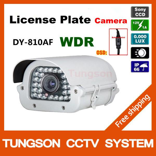 Professional Licença Car Placa de Captura Câmera Sony 700TVL 6 ~ 15 milímetros lente de zoom Branca luz Dia / Noite cheia Câmera Colorida de Segurança CCTV(China (Mainland))