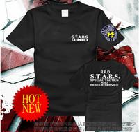 Hot Resident Evil Series S.T.A.R.S Men's T-shirt Short-sleeve Casual Tees Black/White XS/S/M/L/XL/XXL/XXXL