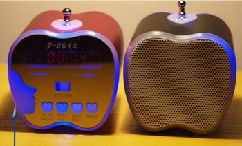 Mini Portable Music Speaker Sound box Boombox Speakers T2012  with U-disk U disk micro SD/TF Card reader USB + FM Radio 5pcs/LOT
