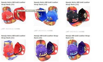 wholesale   Navajo Retro Bill Gold Leather Strap-Back HATS    Free shipping