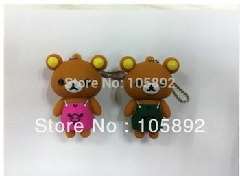 Free shipping 50pcs/lot  2GB 4GB 8GB 16GB 32GB cartoon lovely teddy bear usb flash drive memory stick thumb pen memory pendrive