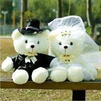 Wedding bear a pair of formal dress wedding bear lovers teddy festive wedding gift filmsize doll 80CM