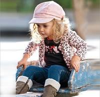 Children's fashion casual suit,Free shipping (5 sets/lot) girls' leopard print coat+bow T-shirt+jeans 3pcs,children/kids suit