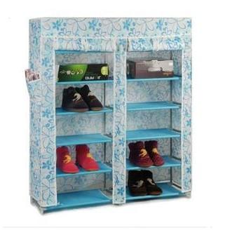 Double 40s-the double door shoe hanger 6 12 simple shoe belt dust cover storage shelf