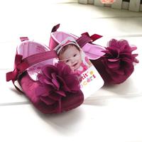 Pure purple flower shoes infant shoes x8
