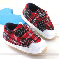 2012 autumn casual male red plaid baby shoes rubber shoes 8876b