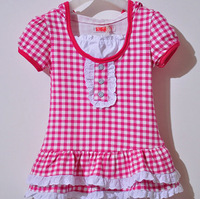 Free Shipping 1pcs/lot 2013 princess dress one-piece  girls dresses summer with cotton fabric