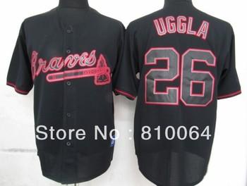 custom baseball jersey 26 Uggla jacket baseball drop shiping