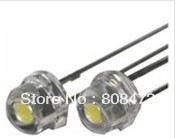 Super bright 5mm white LED lamp beads oversized chip f5 straw hat led light emitting diode 5000-6000mcd