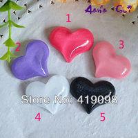 Free shipping! Diy mobile phone decoration/flat back resin/Anna su materials-flash pearl powder hearts/ 32 * 23 mm