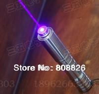 New / stainless steel housing / 2000mw/2W of blue laser pointer / laser flashlight / lighting a match / lit cigarette